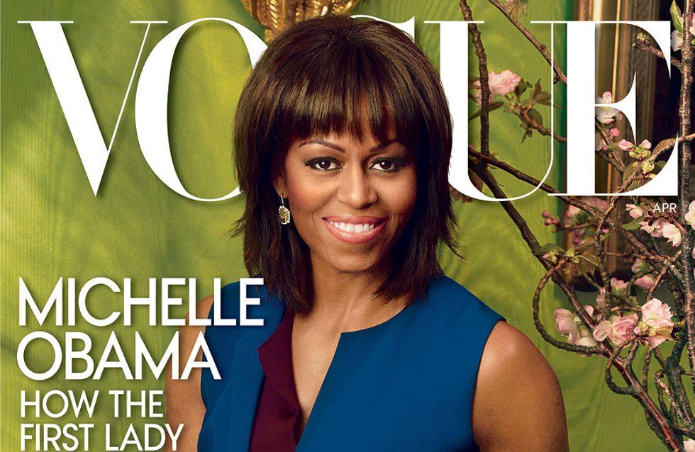 Michelle Obama : Radieuse mais photoshopée, en Une de Vogue