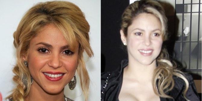 Shakira sans maquillage