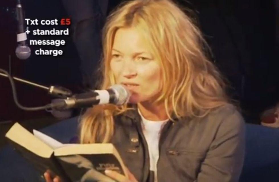 Kate Moss : Ecoutez-la lire un passage de Fifty Shades of Grey... (Vidéo)