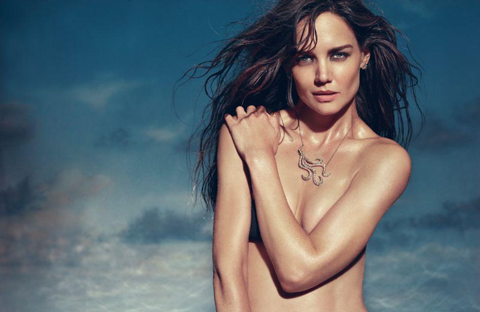 Katie Holmes : A moitié nue pour une collection de bijoux (photos)
