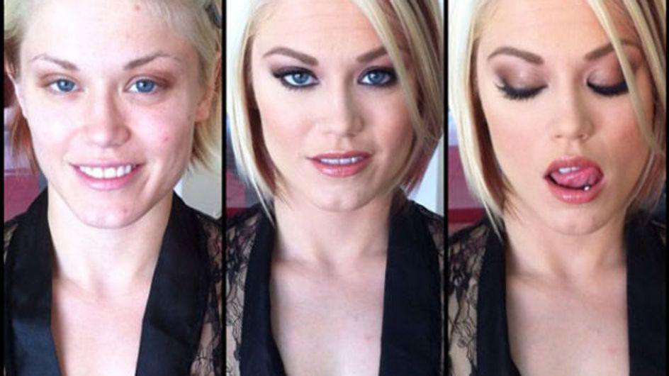 100 actrices porno sans maquillage : Ça fait peur ! (Photos)