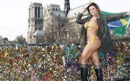 Miss BumBum montre ses fesses en plein Paris !