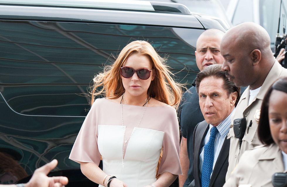 Lindsay Lohan : Son look improbable pour son procès !