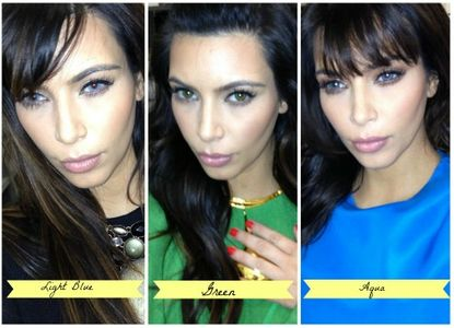 Kim Kardashian lentilles de contact