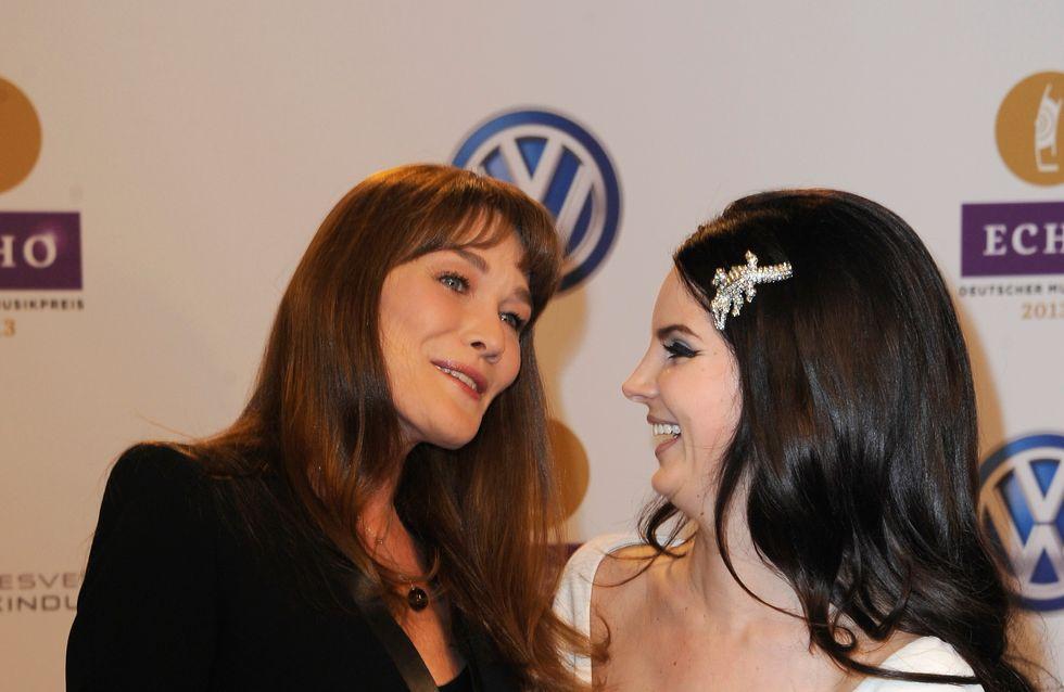 Carla Bruni-Sarkozy et Lana Del Rey très complices sur le tapis rouge