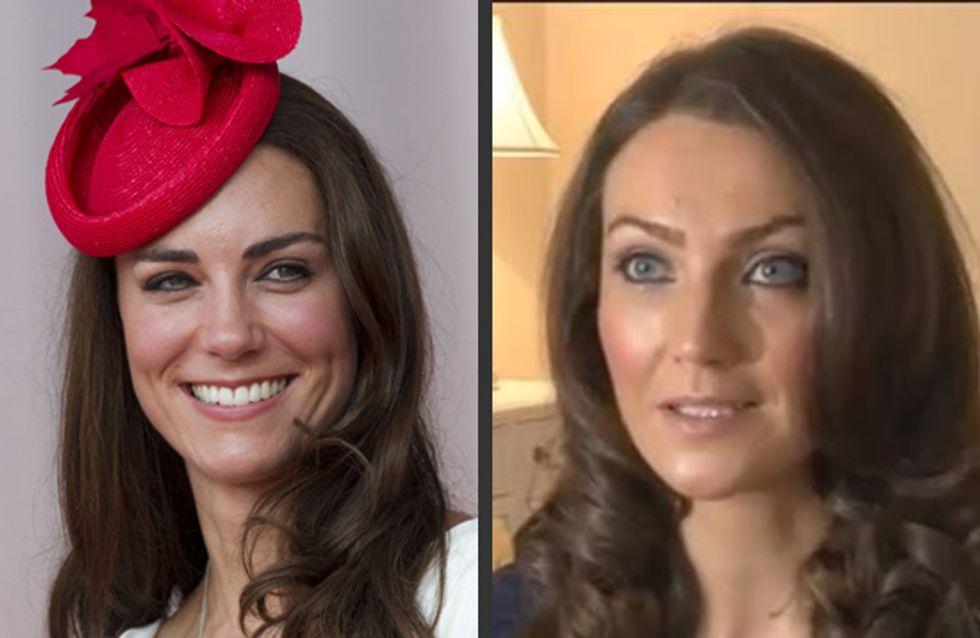 Kate Middleton : Son sosie obligé de porter un gros ventre !