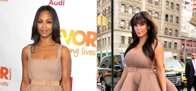 Kim Kardashian versus Zoë Saldana