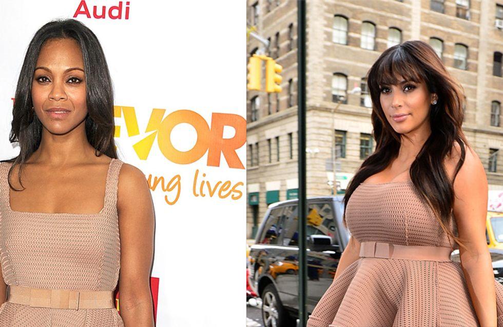 Kim Kardashian vs Zoë Saldana : Qui porte le mieux la robe Lanvin ?