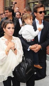 Kourtney Kardashian, Scott Disick and their son Mason