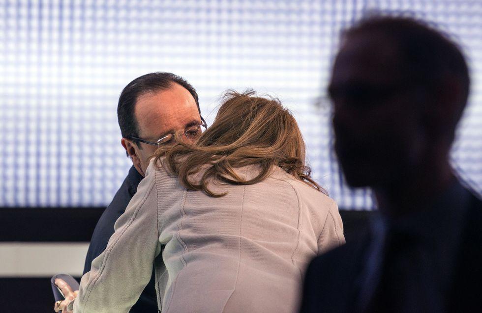 François Hollande : Et un bisou à Valérie avant le JT, un !
