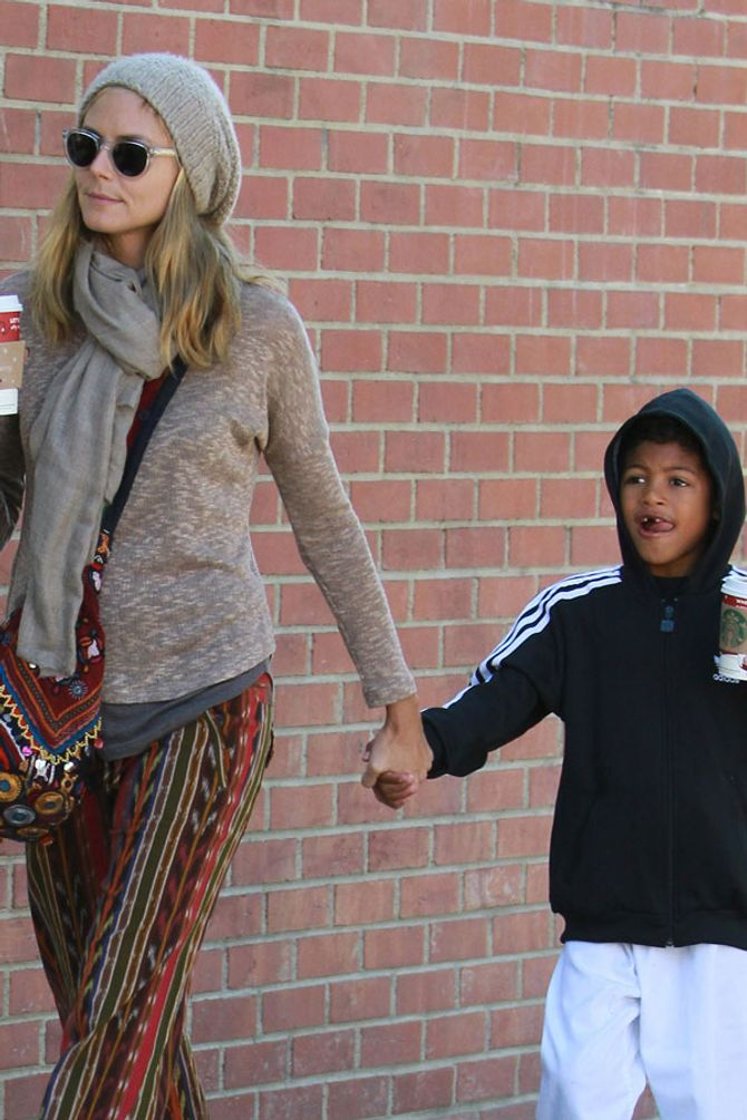 Heidi Klum with Henry
