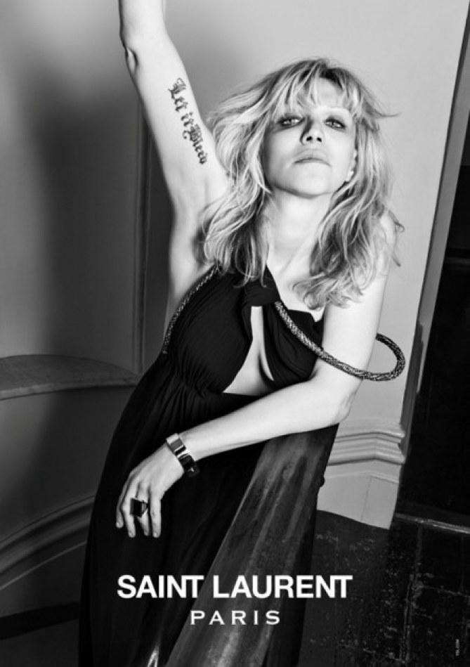 Courtney Love pour Saint Laurent