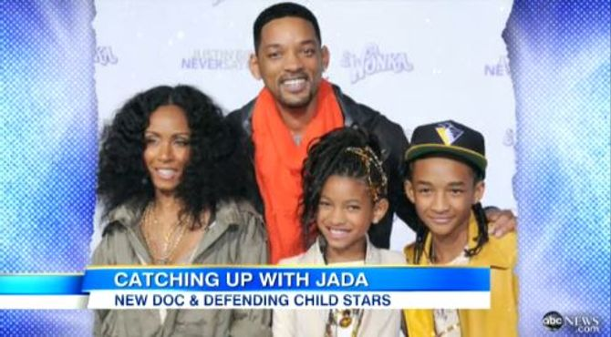 Jada Pinkett Smith, Will Smith et leurs enfants, Willow et Jaden