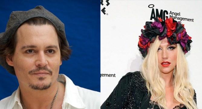 Ke$ha et Johnny Depp