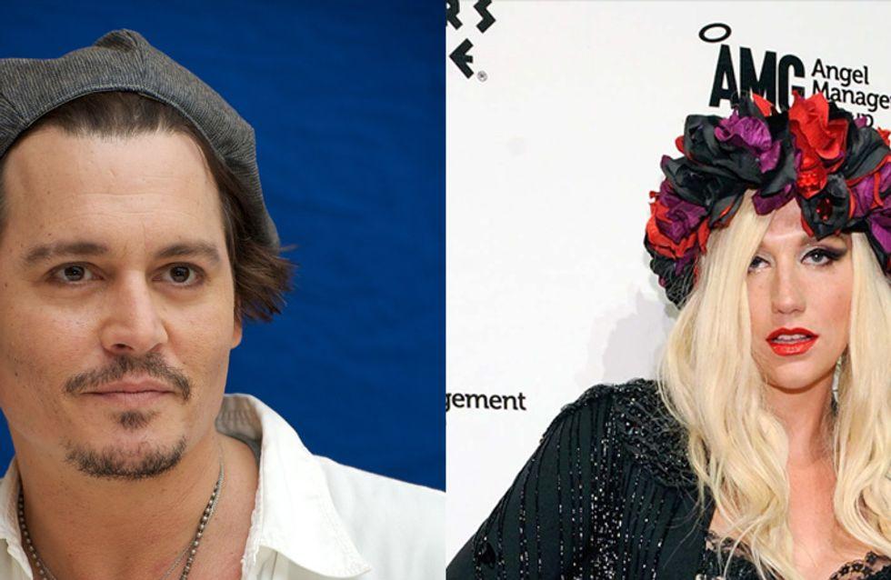 Ke$ha et Johnny Depp ont eu une relation sexuelle oculaire