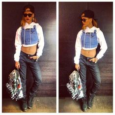 Rihanna tente de lancer la mode du top salopette...