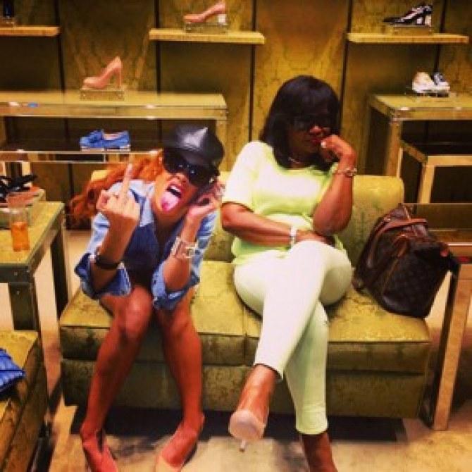 Rihanna et sa maman, Monica Fenty