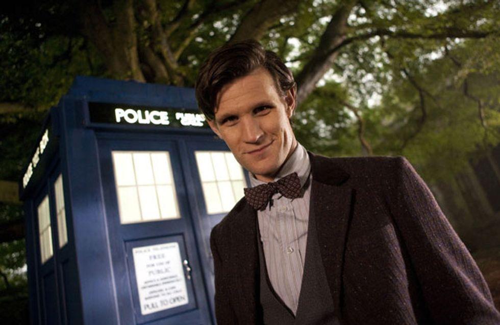 Doctor Who 50th anniversary: Matt Smith lands in Trafalgar Square