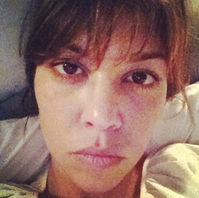 Kourtney Kardashian sans maquillage