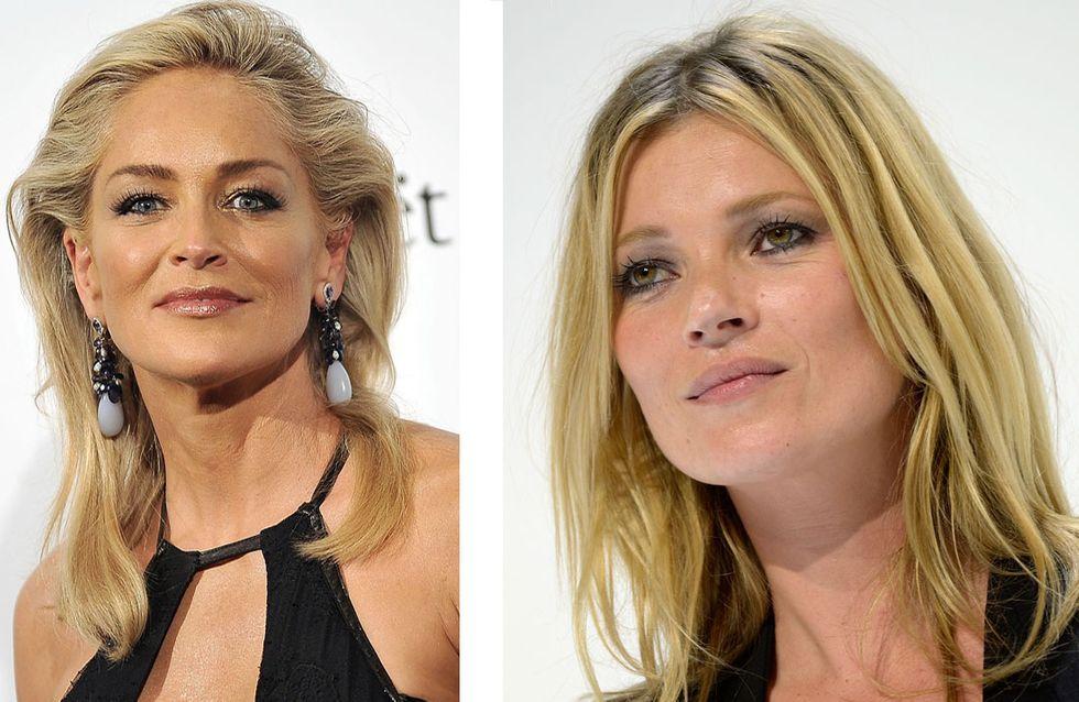 Kate Moss et Sharon Stone : Un baiser langoureux au Brésil...