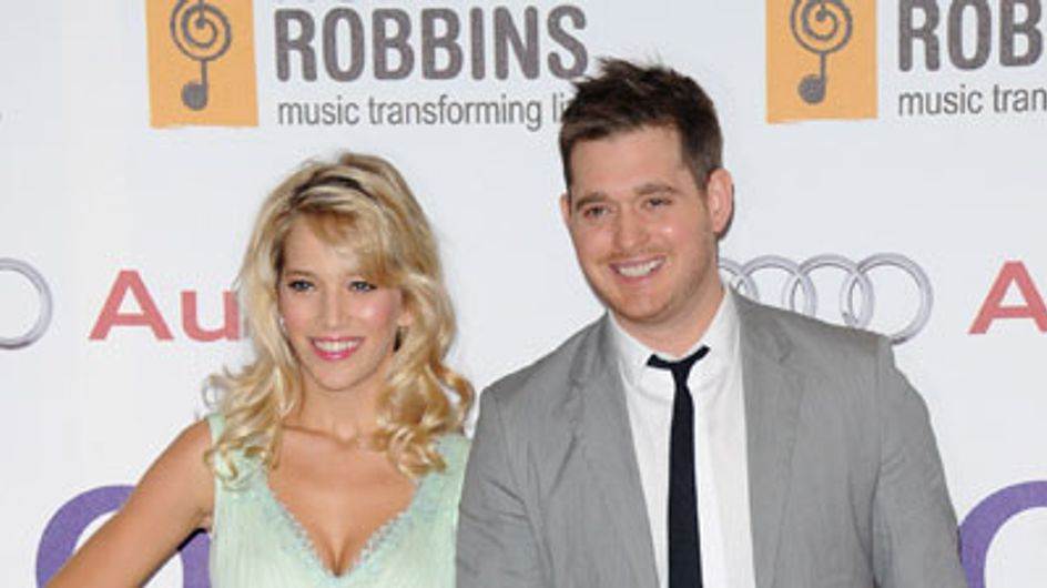 Michael Bublé's wife Luisana Lopilato plays his music to her baby bump
