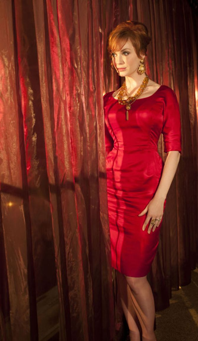Christina Hendricks plays Joan