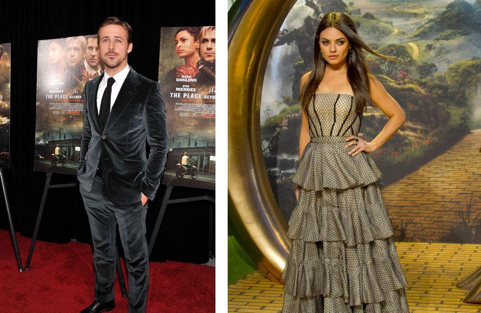 Ryan Gosling et Mila Kunis : Elus stars les plus désirées
