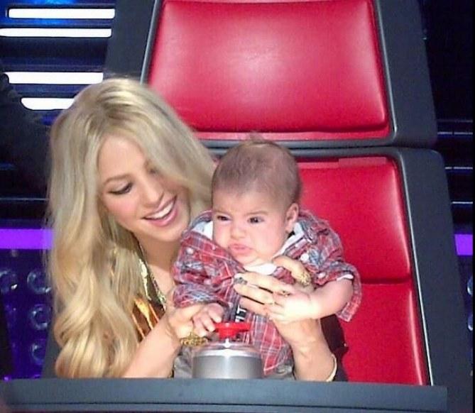 Shakira et son fils Milan