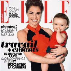Alessandra Sublet : Avec sa fille Charlie en couverture de Elle