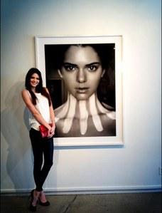 Kendall Jenner et son portrait