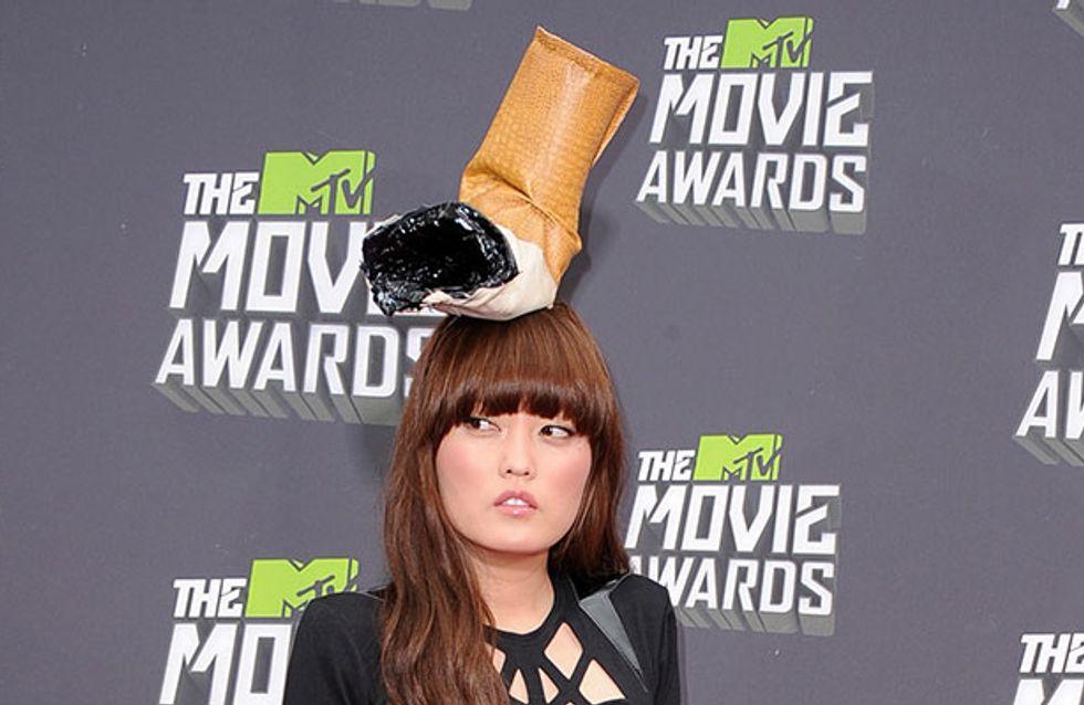MTV Awards 2013: Pitch Perfect's Hana Mae Lee in bizarre cigarette-butt hat