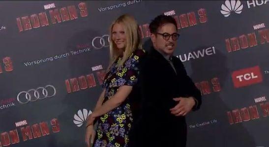 Gwynet Paltrow et Robert Downey Jr à l'avant première de Iron Man 3