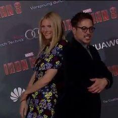 Iron Man 3 : Robert Downey Jr et Gwyneth Paltrow ont assuré le show à Paris (Photos et Vidéo)