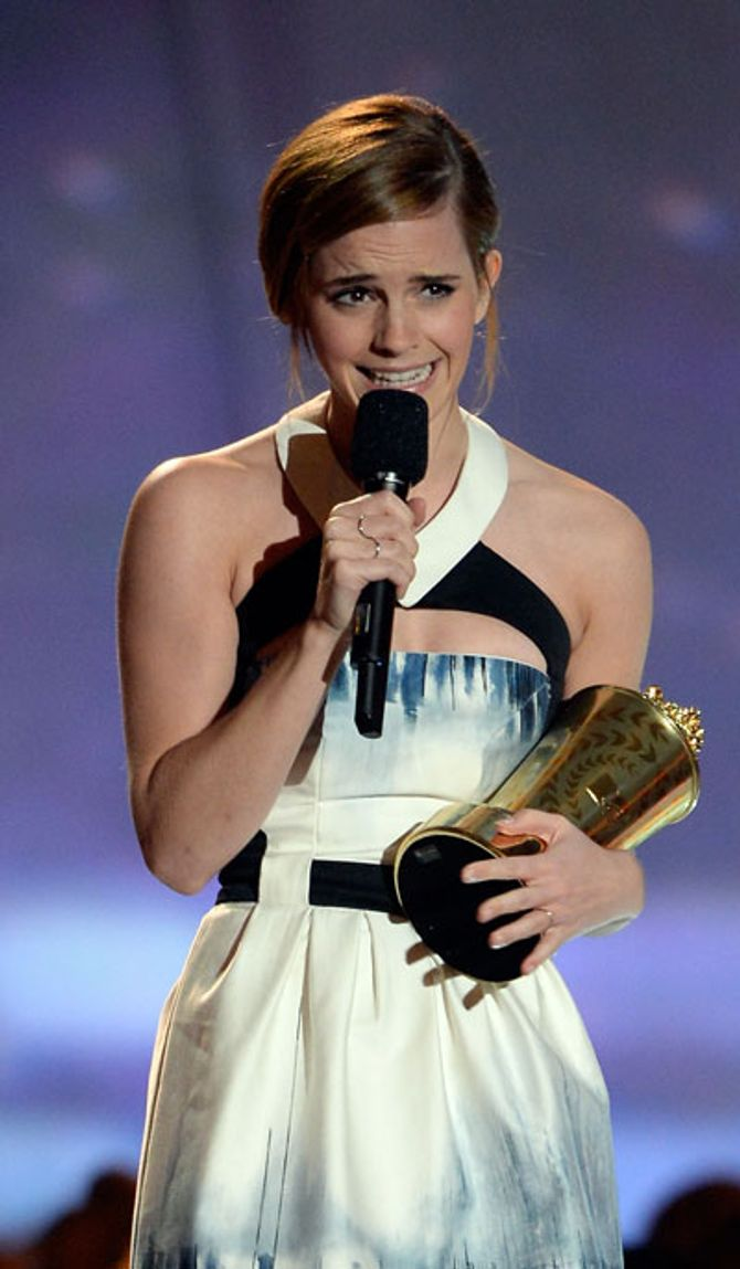 Emma Watson at the MTV Movie Awards 2013