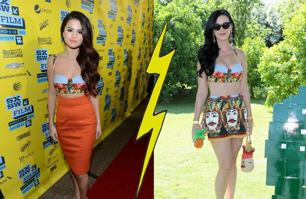 Selena Gomez VS Katy Perry : Qui porte le mieux la brassière Dolce & Gabbana ?