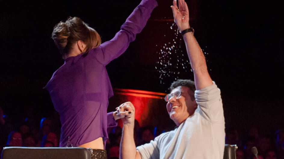 BGT 2013: Amanda Holden throws water over Simon Cowell in judges showdown