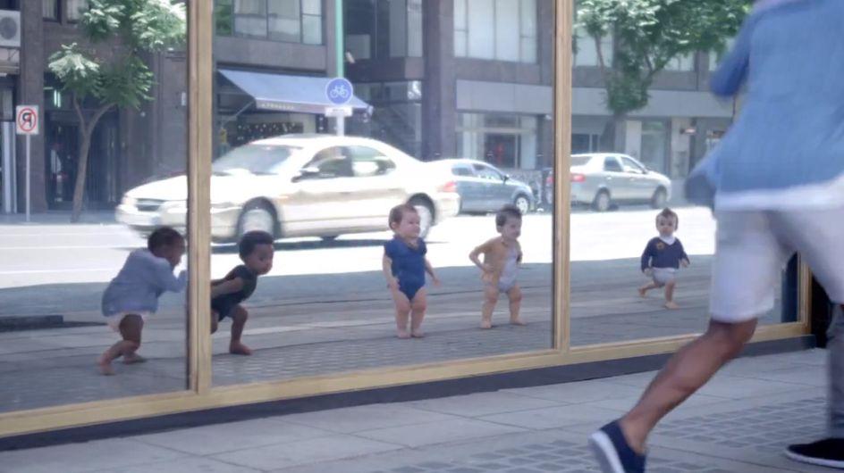 Découvrez en exclu les bébés survoltés de la nouvelle pub Evian ! (Video)