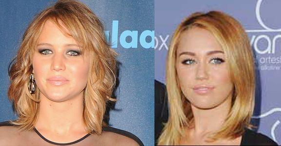 Jennifer Lawrence et Miley Cyrus