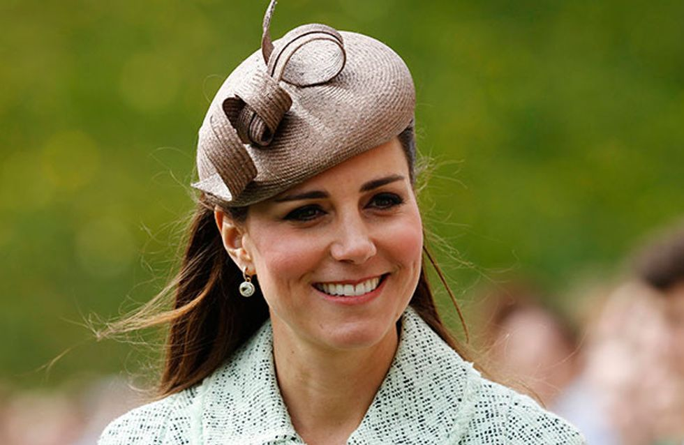 Pregnant Kate Middleton can't hide her baby bump at Windsor Castle