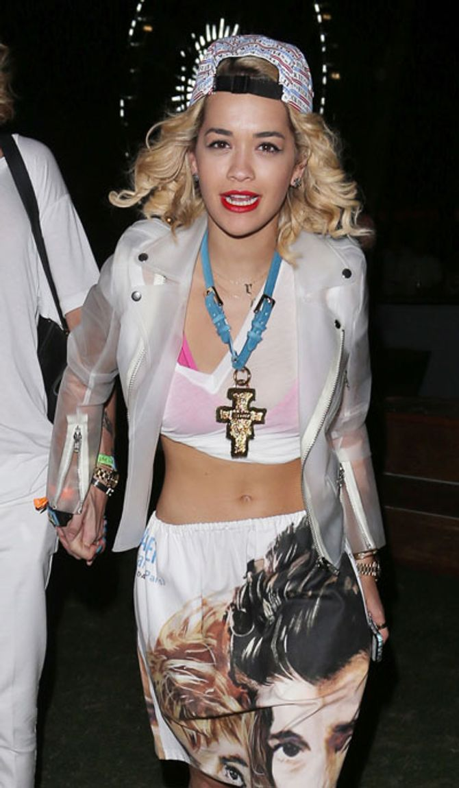 Rita Ora partying at Coachella