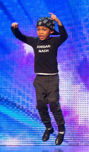 Jordan Nash performing on BGT 2013