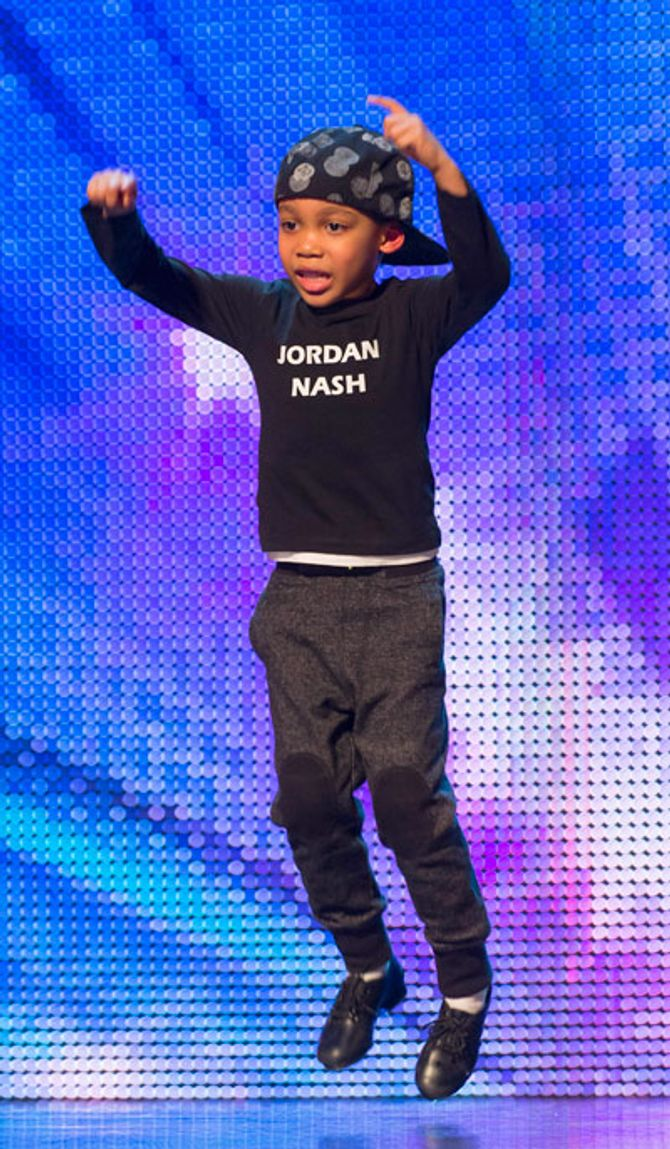 Jordan Nash performing on BGT 2013