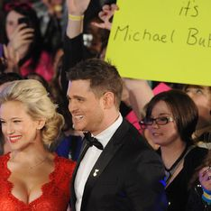 Michael Bublé and pregnant wife Luisana Lopilato look red hot at JUNO Awards