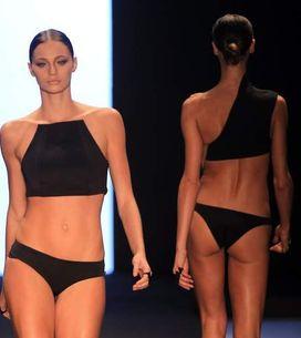 Fesses qui tombent et corps déformés par la maigreur à la Fashion Week de Rio