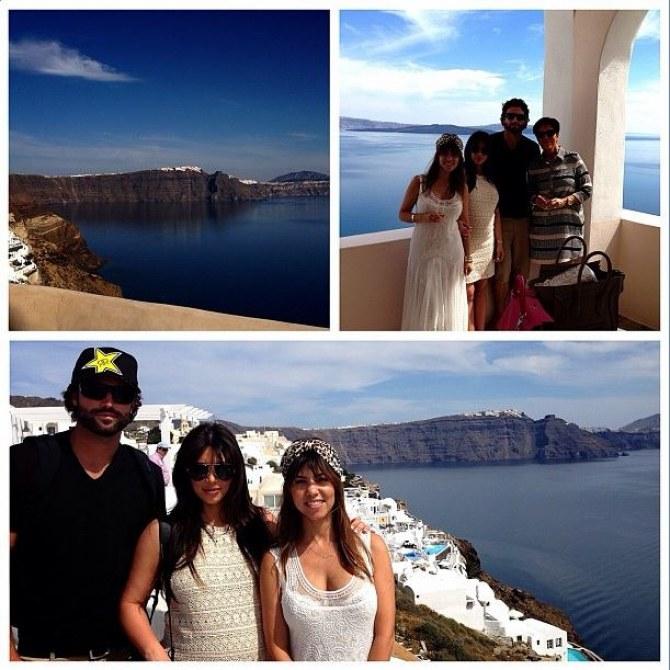 Les vacances de Kim Kardashian en Grèce