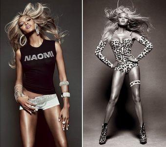 Naomi Campbell en blonde pour Vogue Brésil