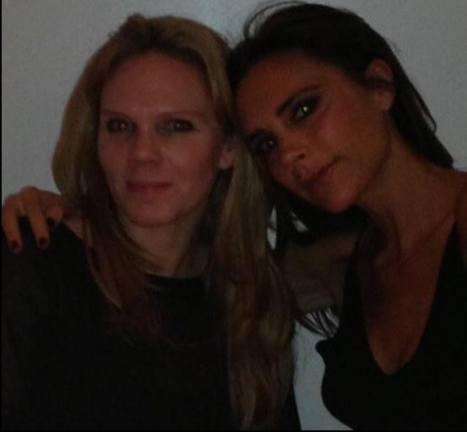 Victoria Beckham et sa soeur Louise Adams