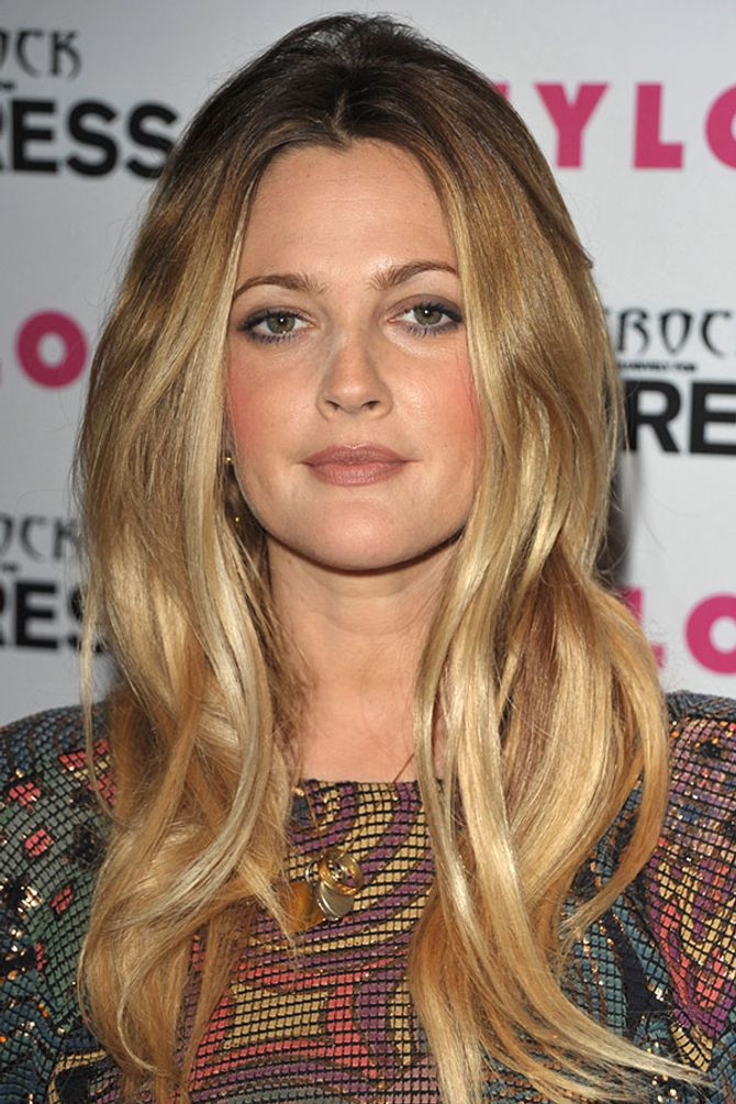 Drew Barrymore: Honey hair
