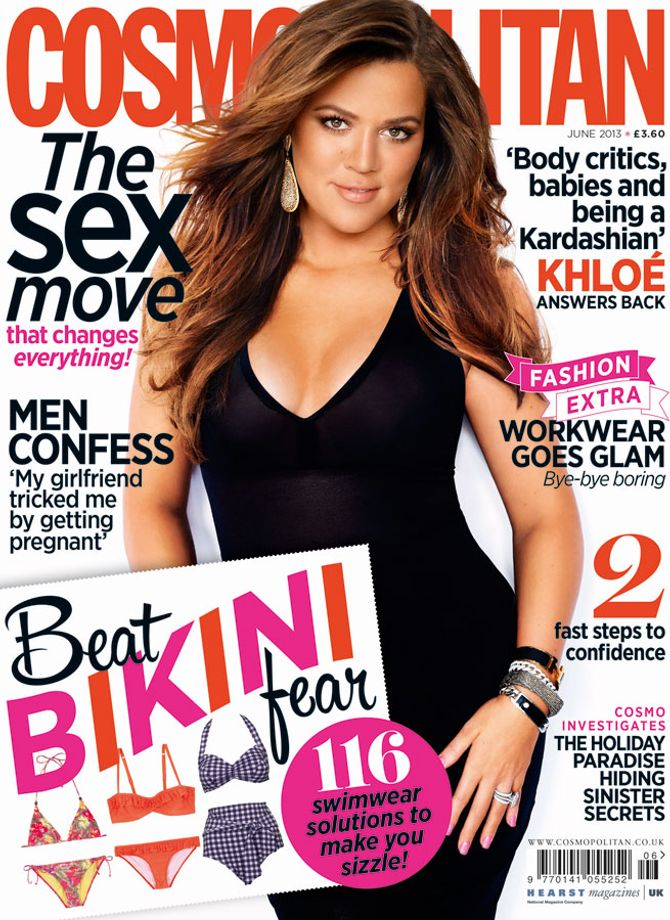 Khloe Kardashian on the cover of Cosmopolitan