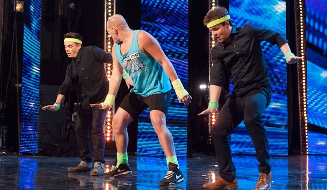 Ant and Dec performing funkasize on BGT 2013